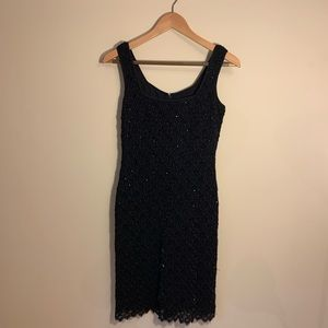 Black lace and bead dress size 8